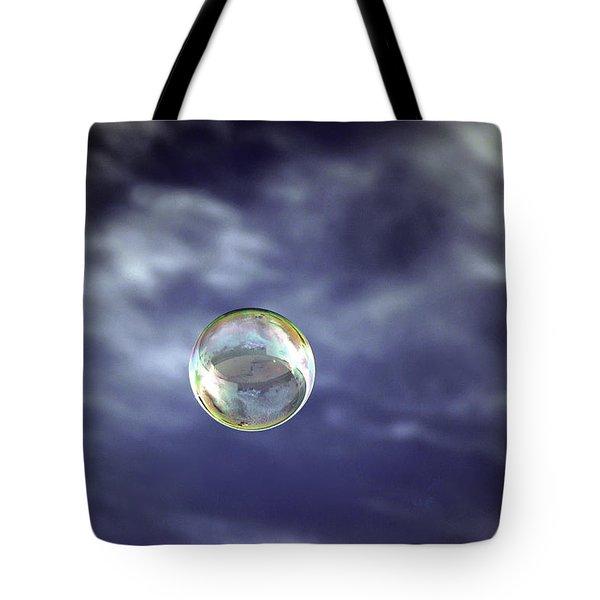 Bubble Self Portrait Tote Bag by Dan McManus
