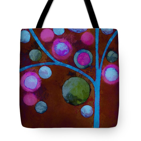 Bubble Tree - W02d - Left Tote Bag by Variance Collections