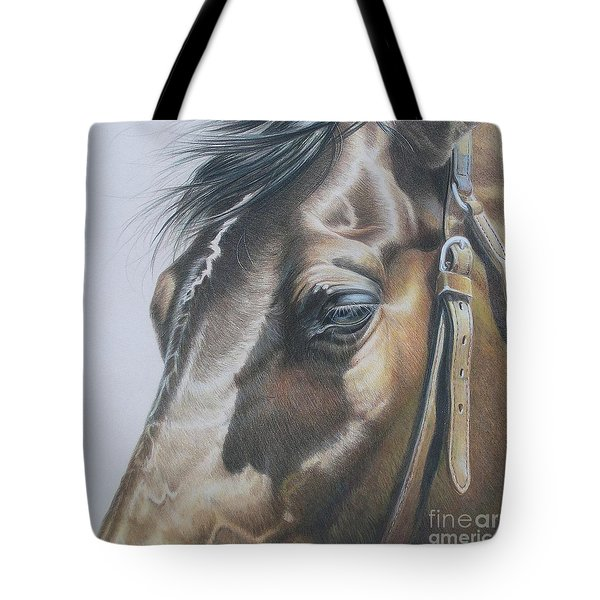 Buckles And Belts In Colored Pencil Tote Bag by Carrie L Lewis