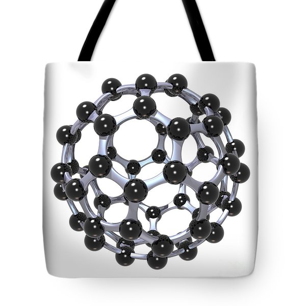 Buckminsterfullerene Or Buckyball C60 18 Tote Bag by Russell Kightley