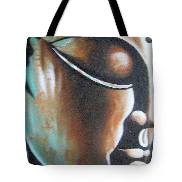 Buddha Tote Bag by Usha Rai