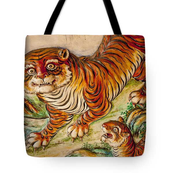 Buddhist Temple Decorations In Tote Bag by Rowan Gillson