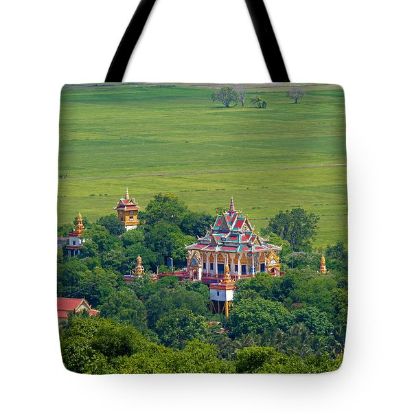Buddist Temple Tote Bag by David Freuthal