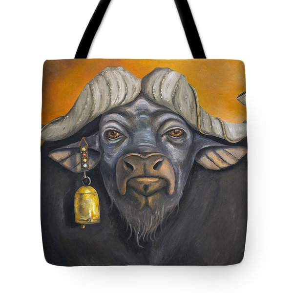 Buffalo Bells Tote Bag by Leah Saulnier The Painting Maniac