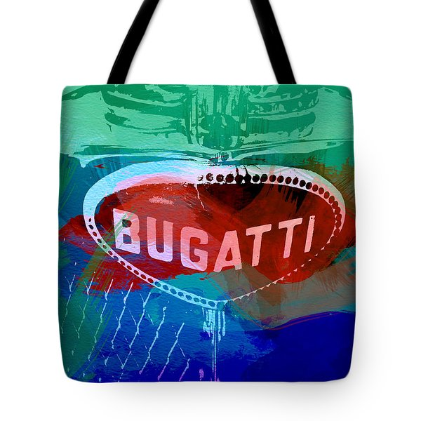 Bugatti Badge Tote Bag by Naxart Studio
