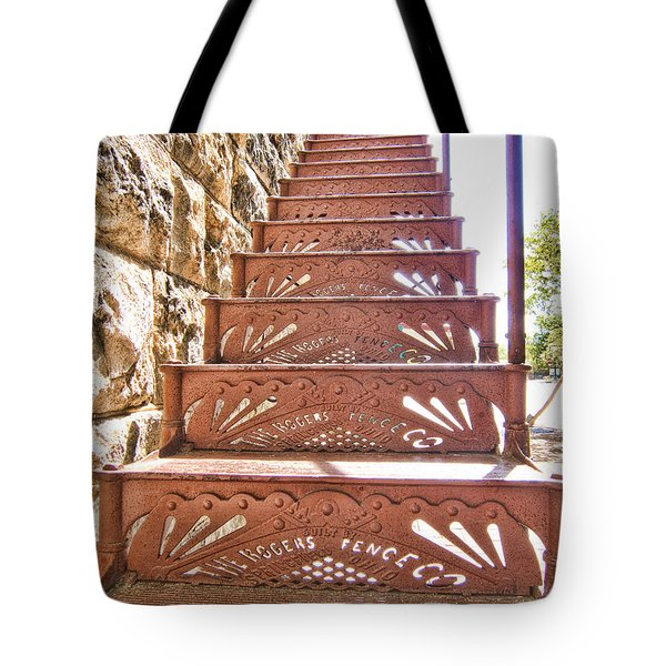 Built By The Rogers Fence Co Tote Bag by Douglas Barnard