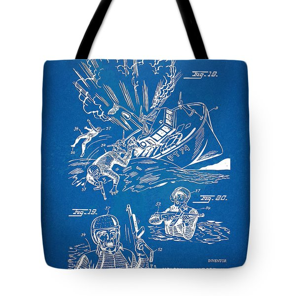 Bulletproof Patent Artwork 1968 Figures 18 To 20 Tote Bag by Nikki Marie Smith