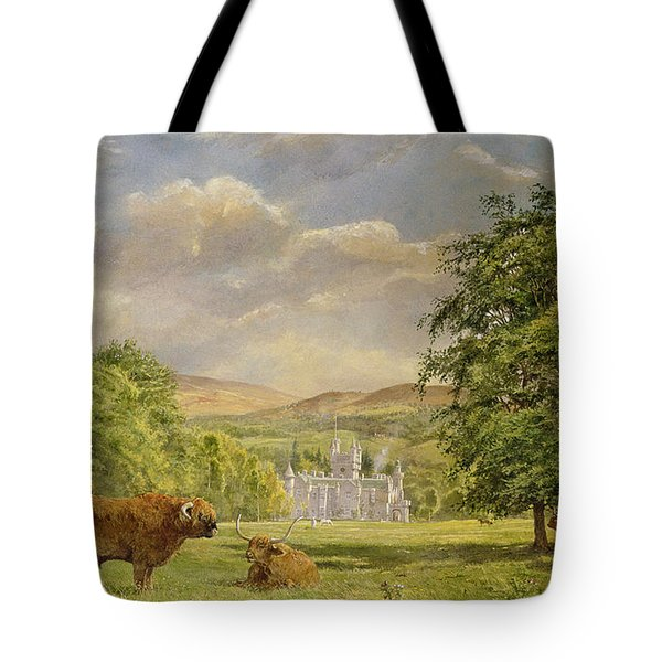 Bulls At Balmoral Tote Bag by Tim Scott Bolton