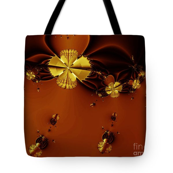 Bumble Beez Over Chocolate Lake . S19 Tote Bag by Wingsdomain Art and Photography