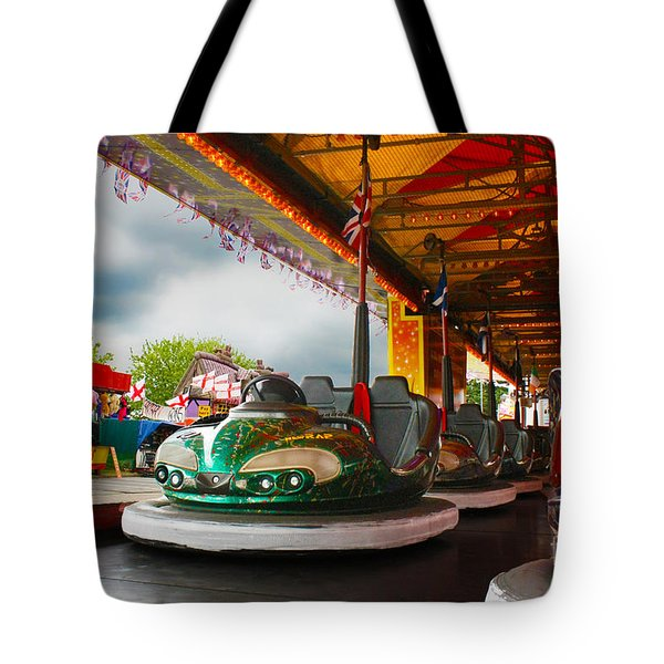 Bumper Cars Tote Bag by Terri Waters