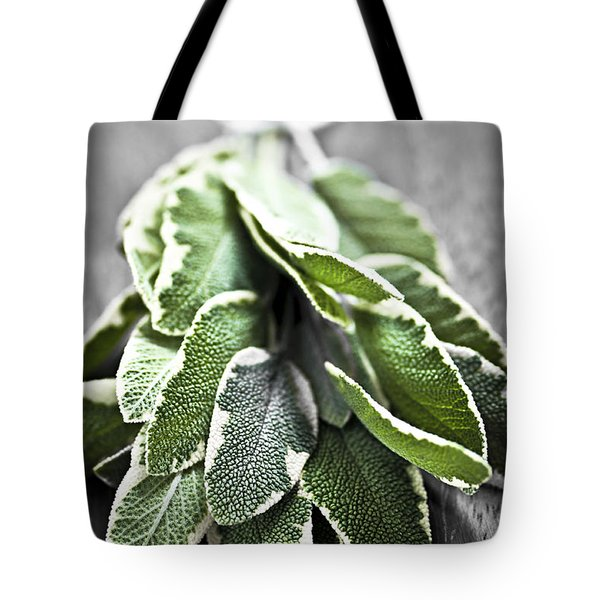 Bunch of fresh sage Tote Bag by Elena Elisseeva