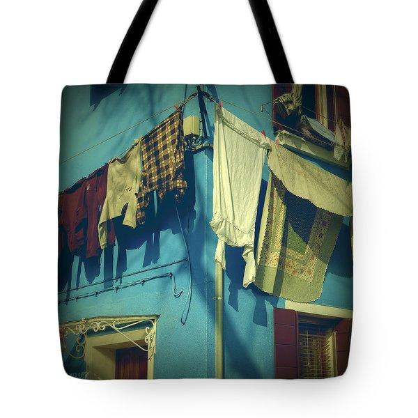 Burano - laundry Tote Bag by Joana Kruse