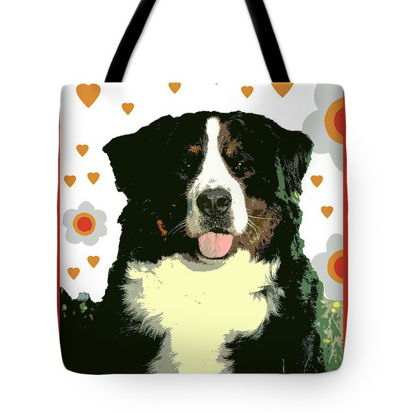 Burmese Mountain Dog Tote Bag by One Rude Dawg Orcutt