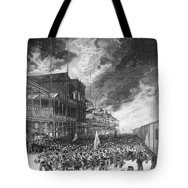 Burning Of Colon, 1885 Tote Bag by Granger