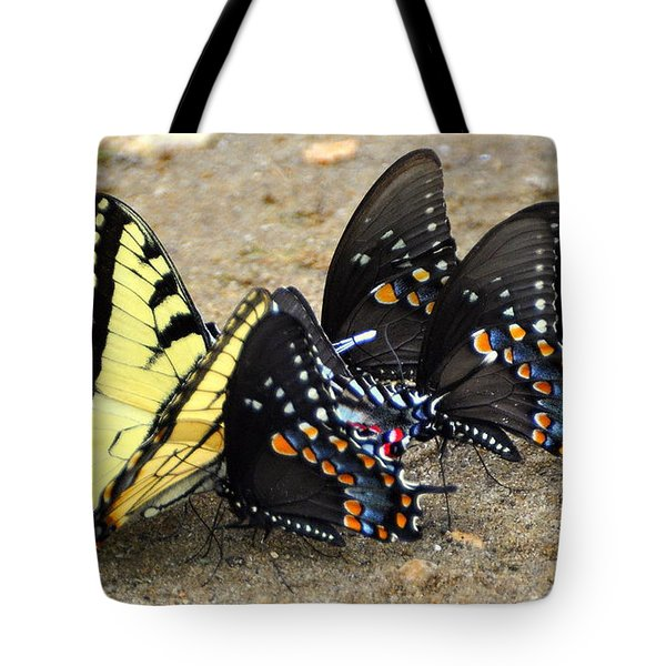 Butterflies By The Buches Tote Bag by Marty Koch