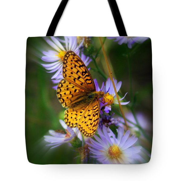Butterfly Blur Tote Bag by Marty Koch