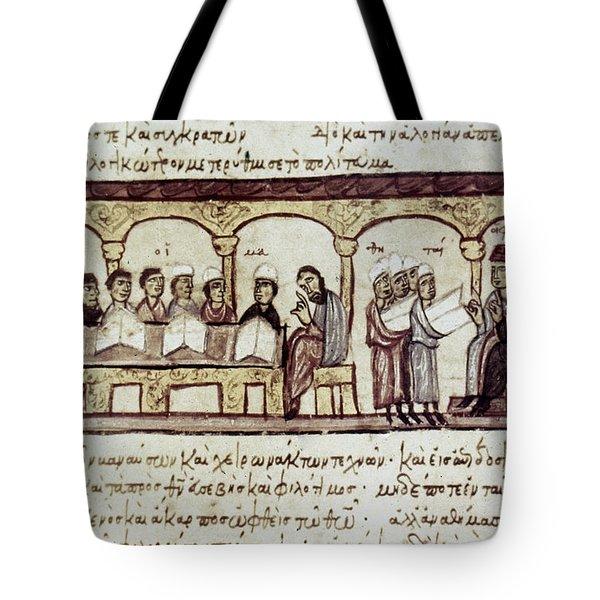 Byzantine Philosophy School Tote Bag by Granger