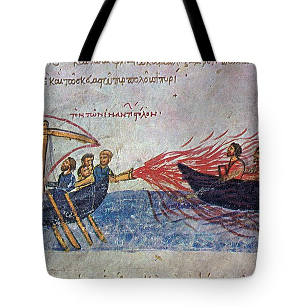 Byzantine Sailors  Tote Bag by Photo Researchers