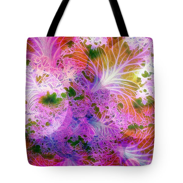 Cabbage Moon Tote Bag by Judi Bagwell