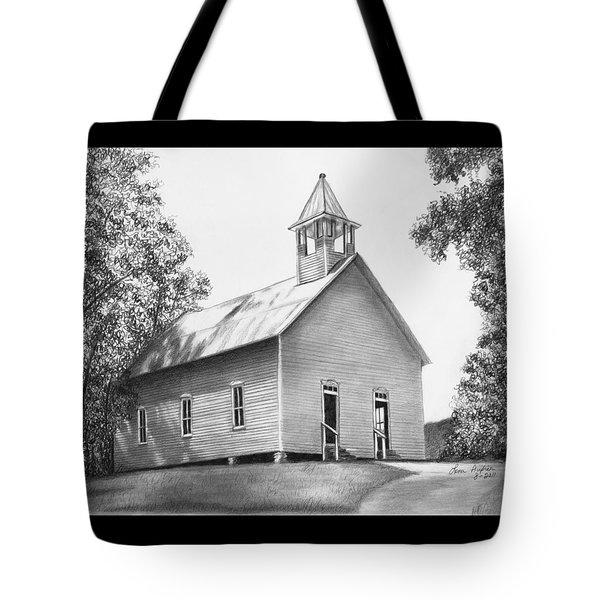 Cades Cove Methodist Church Tote Bag by Lena Auxier