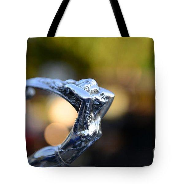 Cadillac Goddess Hood Ornament Tote Bag by Paul Ward