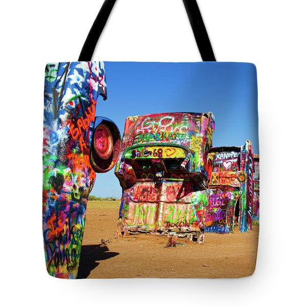 Cadillac Ranch 2 Tote Bag by Lana Trussell