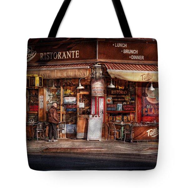 Cafe - Ny - Chelsea - Tello Ristorante Tote Bag by Mike Savad