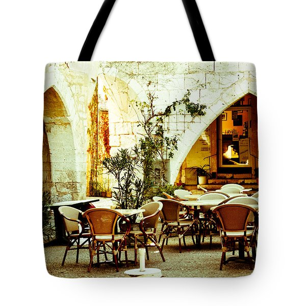Cafe France Tote Bag by Nomad Art And  Design