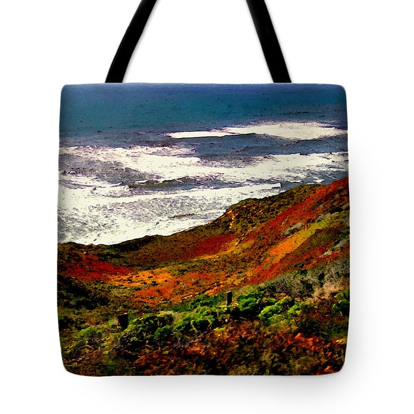 California Coastline Tote Bag by Bob and Nadine Johnston