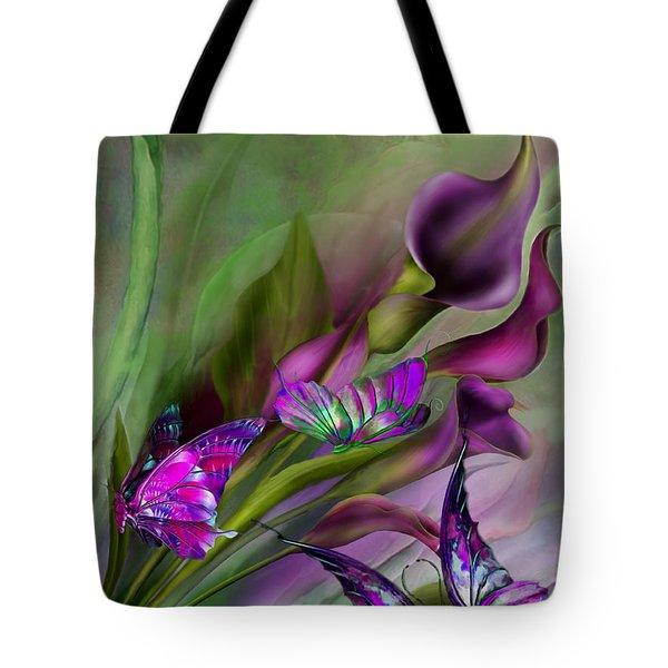 Calla Lilies Tote Bag by Carol Cavalaris
