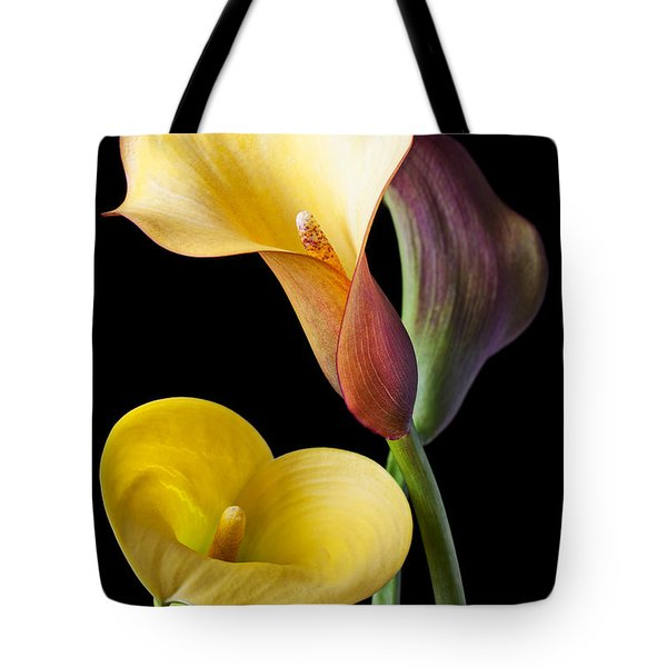 Calla Lilies Still Life Tote Bag by Garry Gay