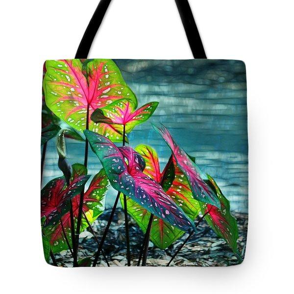 Calladiums Tote Bag by Judi Bagwell