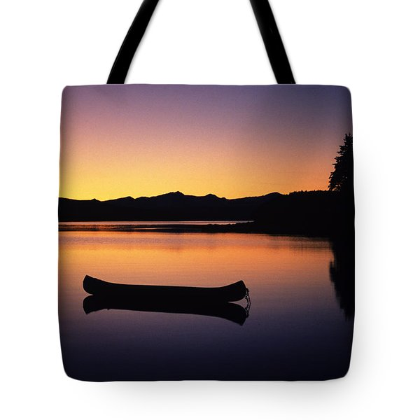 Calming Canoe Tote Bag by John Hyde - Printscapes