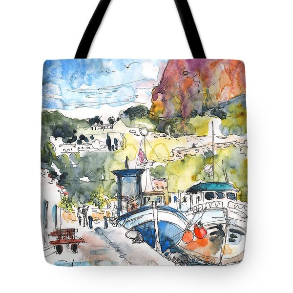 Calpe Harbour 05 Tote Bag by Miki De Goodaboom