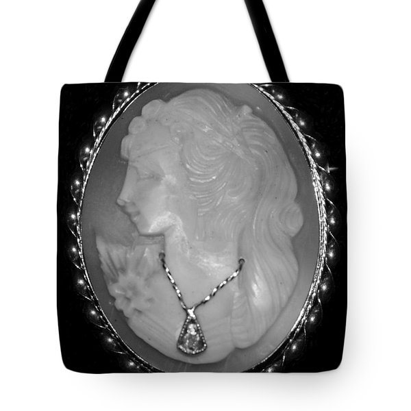 Cameo In Black And White Tote Bag by Rob Hans