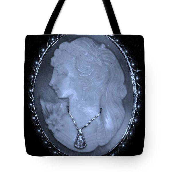 Cameo In Cyan Tote Bag by Rob Hans