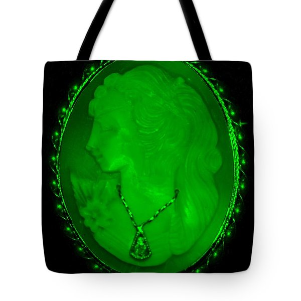 Cameo In Green Tote Bag by Rob Hans