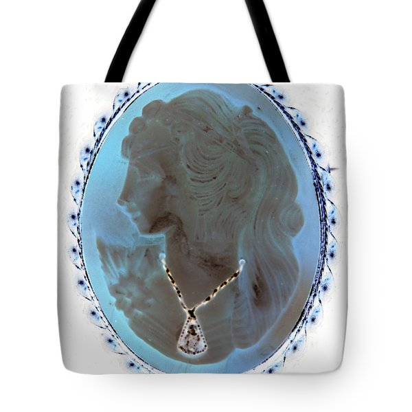 Cameo In Negative  Tote Bag by Rob Hans