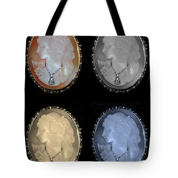 Cameo In Quad Colors Tote Bag by Rob Hans