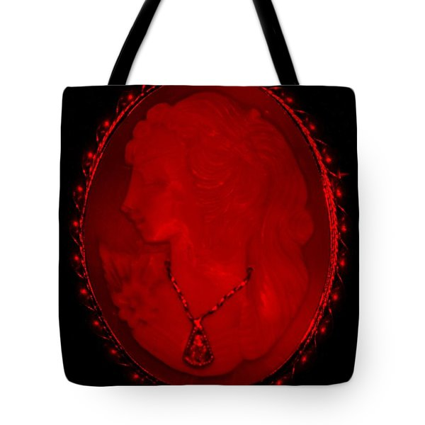 Cameo In Red Tote Bag by Rob Hans