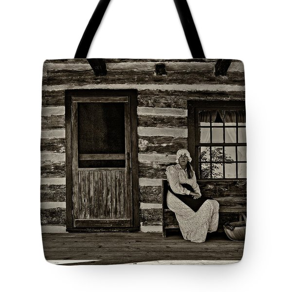 Canadian Gothic sepia Tote Bag by Steve Harrington