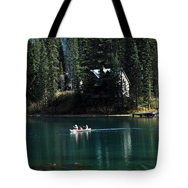 Canadian Rockies Tote Bag by John Doornkamp