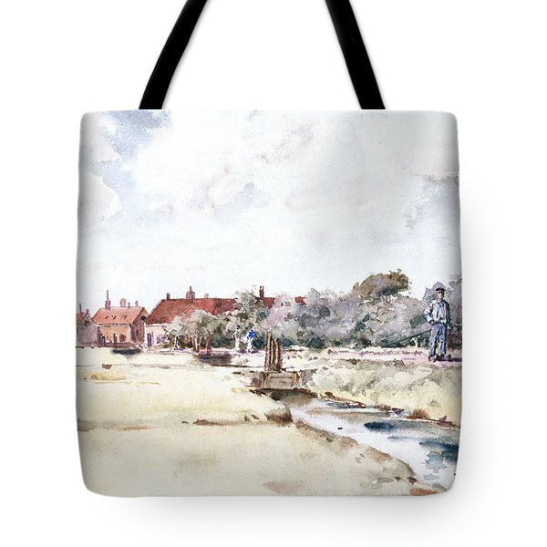 Canal Scene Tote Bag by Childe Hassam