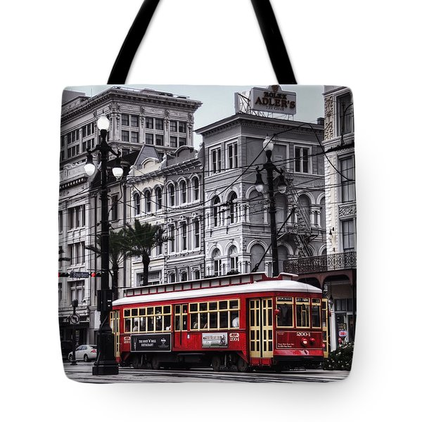 Canal Street Trolley Tote Bag by Tammy Wetzel