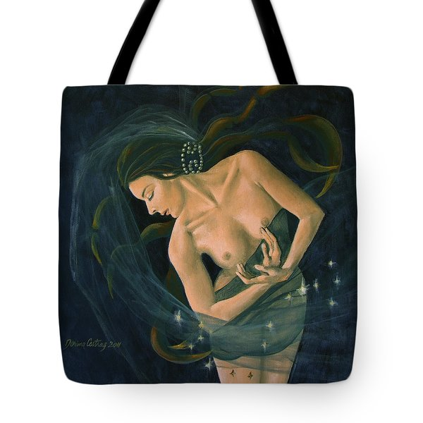 Cancer from Zodiac series Tote Bag by Dorina  Costras