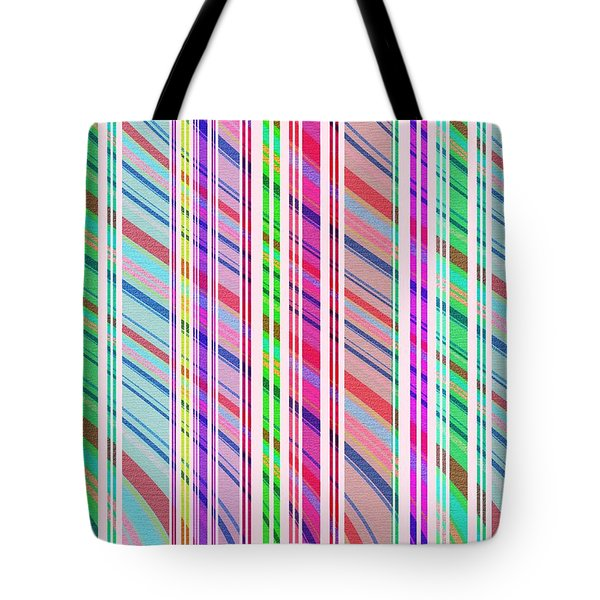 Candy Stripe Tote Bag by Louisa Knight