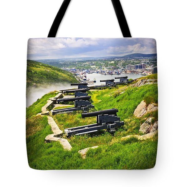 Cannons on Signal Hill near St. John's Tote Bag by Elena Elisseeva