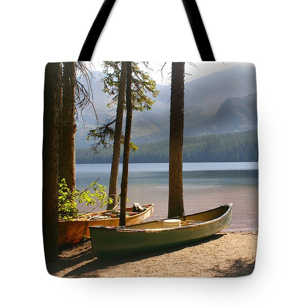 Canoes At The Ready Tote Bag by Marty Koch