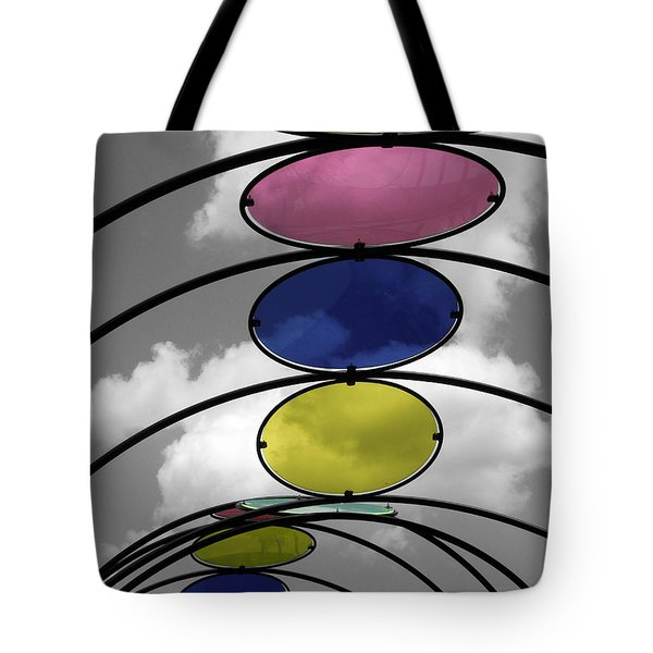 Canopy Black And White Abstract Tote Bag by Sandi OReilly