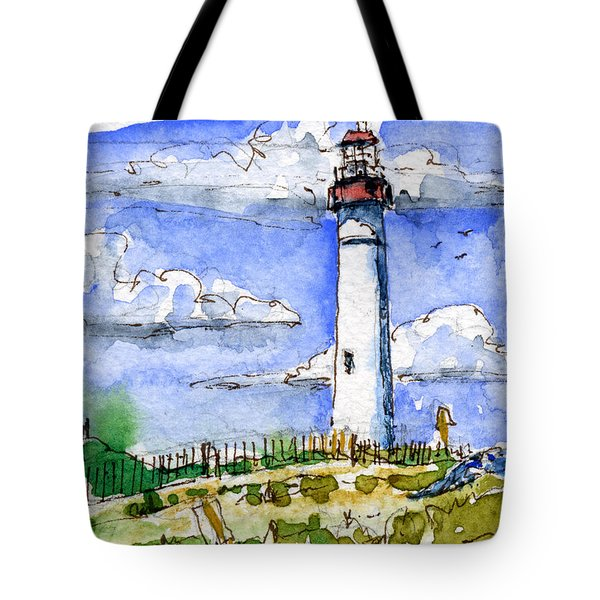 Cape May Lighthouse Study Tote Bag by John D Benson